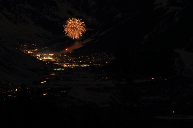 Fireworks at Snow King viewed from Teton Pass Highway